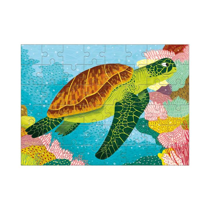 Mudpuppy Mini Puzzle - Green Sea Turtle - The Little Interior