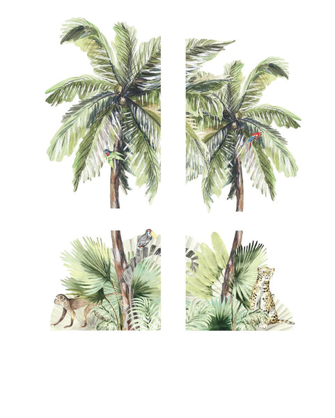 Ginger Monkey Tropical Island Decal (PRE ORDER EARLY NOV) - The Little Interior