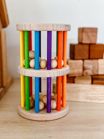 NIC Toys Mini Rattling Tower Rainbow