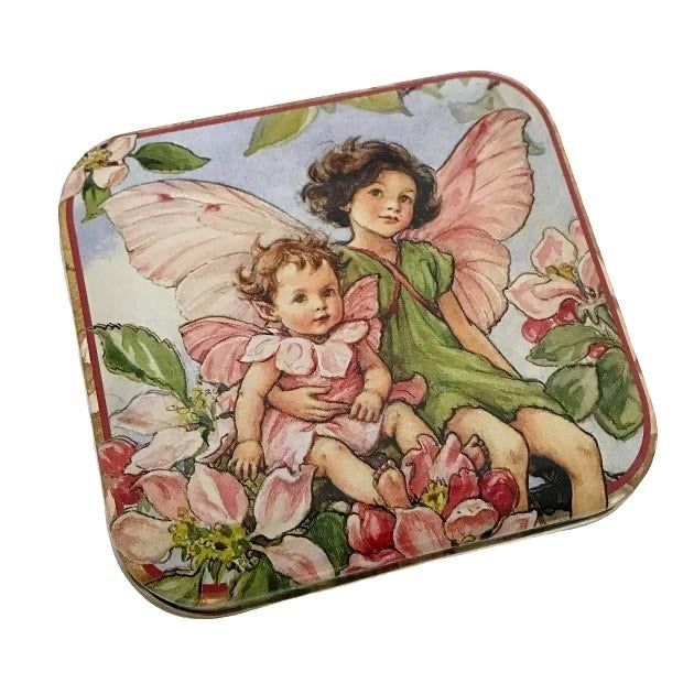 Flower Fairy Square Tin - Apple Blossom
