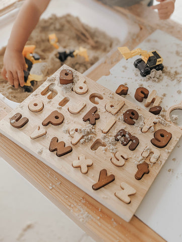 Lower Case Letter Puzzle - Natural