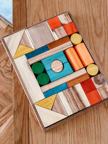 Natural Wooden Blocks (PRE ORDER MID-MAY) - The Little Interior