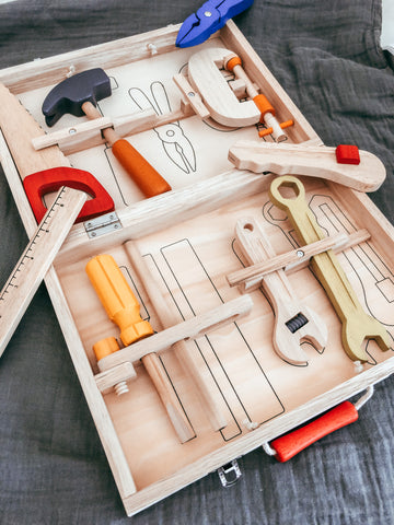 Wooden Tool Box - The Little Interior