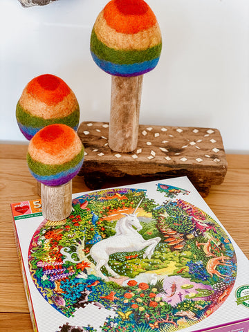 500 Pc Round Puzzle - Unicorn