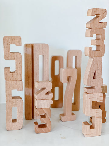 Astrup Wooden Numbers