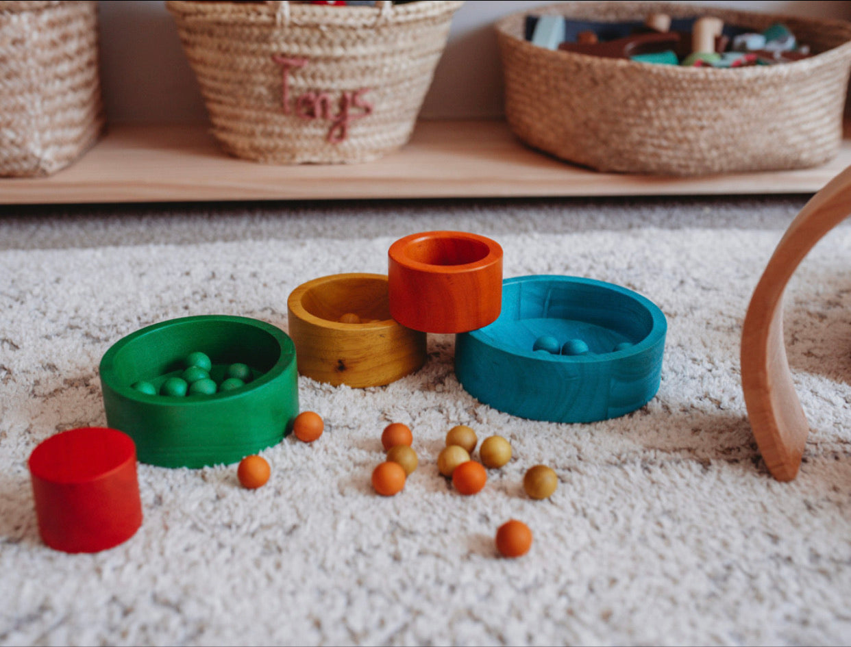 Natural Coloured Stacking and Nesting Bowls - The Little Interior