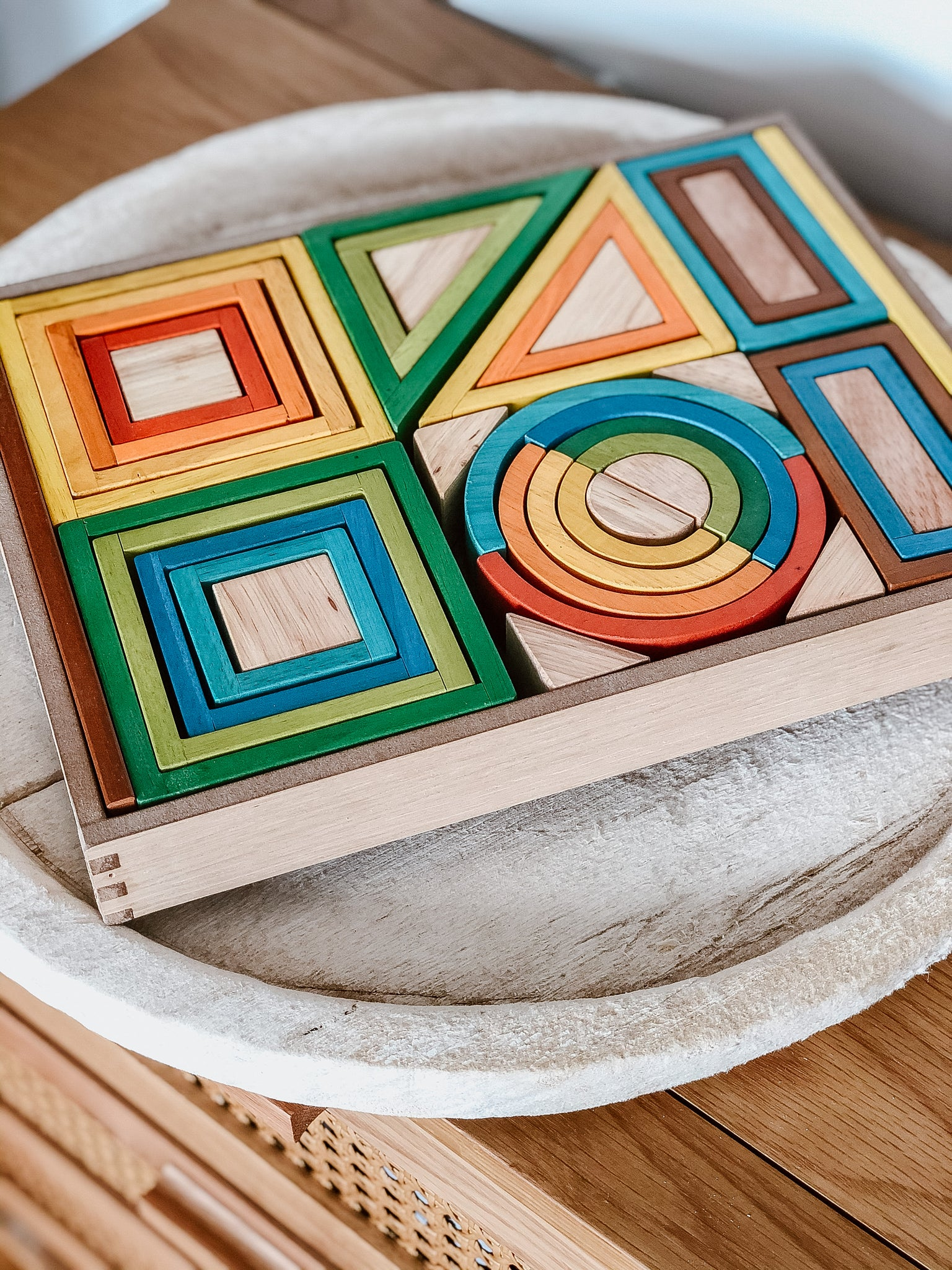 Rainbow Nesting Blocks