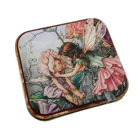 Flower Fairy Square Tin - Sweet Pea