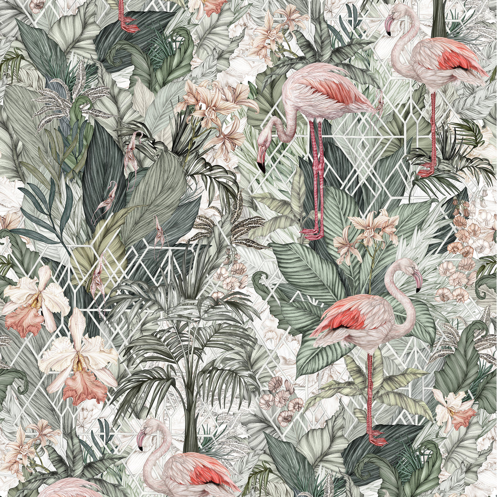 Jimmy Cricket Flamingo Wallpaper - The Little Interior