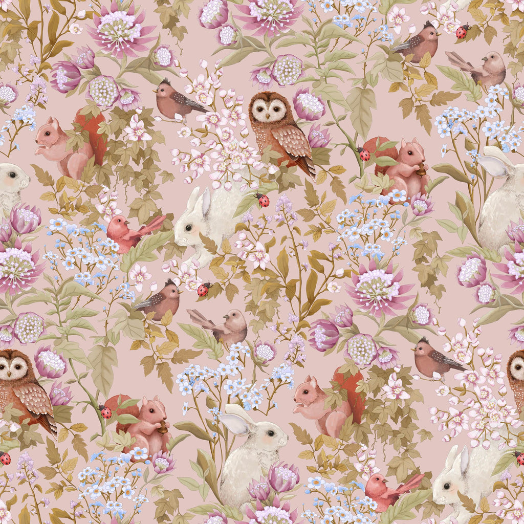 Jimmy Cricket Woodlands Blush Wallpaper - The Little Interior