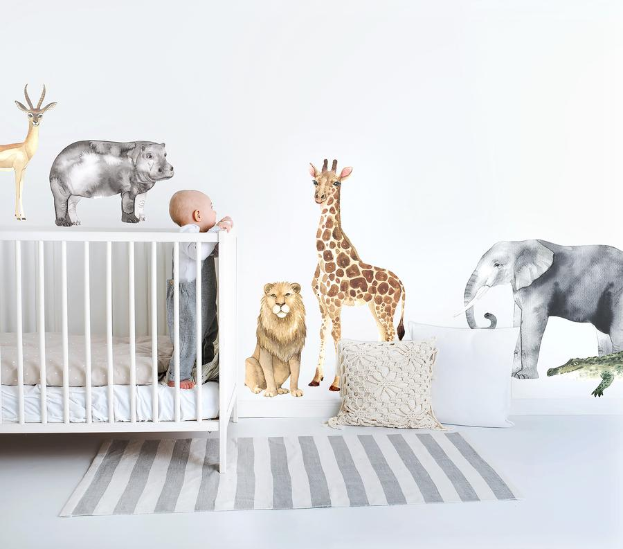 Ginger Monkey Safari Animal Decal Set (PRE ORDER MARCH) - The Little Interior