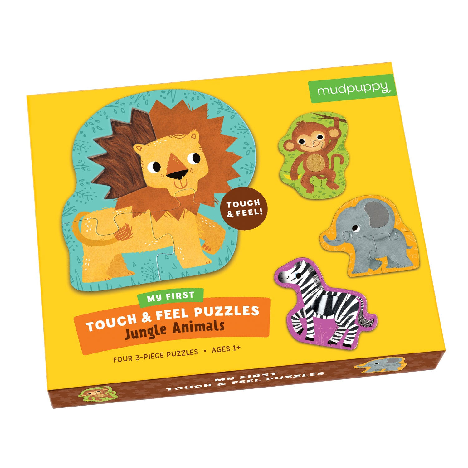 Mudpuppy - My First Touch & Feel Puzzle -Jungle Animals