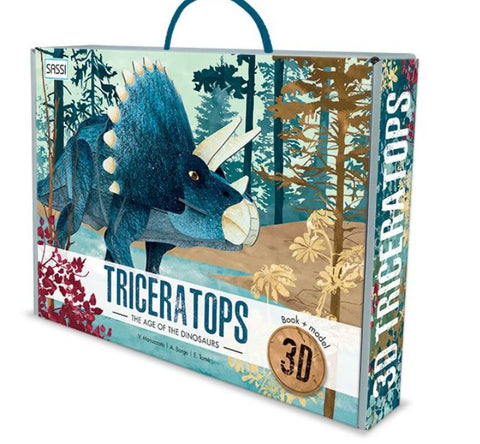 3D Assemble & Book Age of Dinosaurs - Triceratops - The Little Interior