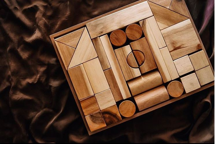Natural Wooden Blocks - The Little Interior