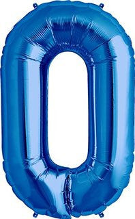 Blue No. 0 Foil Balloon