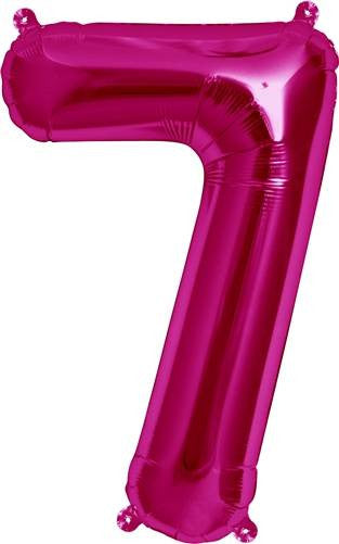Magenta No. 7 Foil Balloon