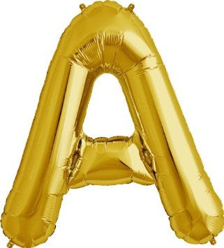 Gold Letter A Foil Balloon