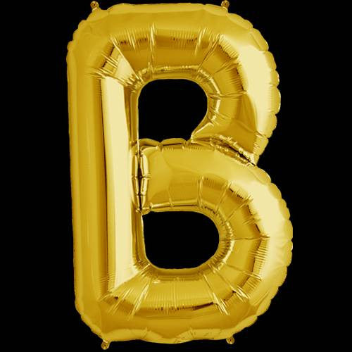 Gold Letter B Foil Balloon