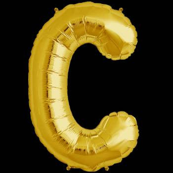 Gold Letter C Foil Balloon