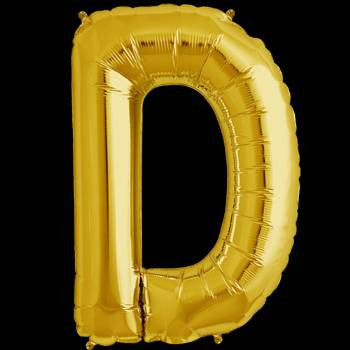 Gold Letter D Foil Balloon