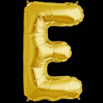 Gold Letter E Foil Balloon