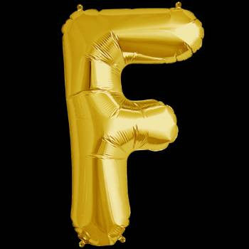 Gold Letter F Foil Balloon