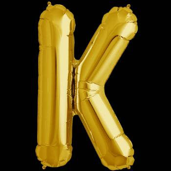 Gold Letter K Foil Balloon