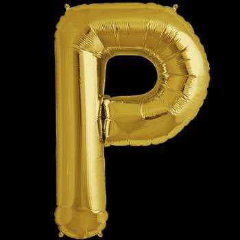Gold Letter P Foil Balloon