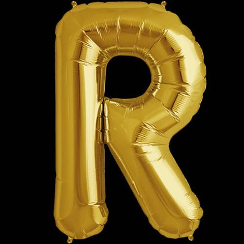 Gold Letter R Foil Balloon