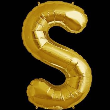 Gold Letter S Foil Balloon