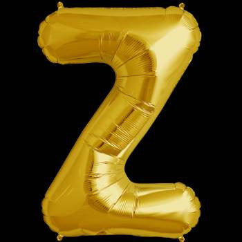 Gold Letter Z Foil Balloon