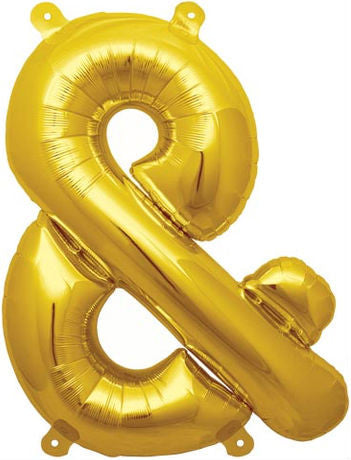 Gold Ampersand & Foil Balloon