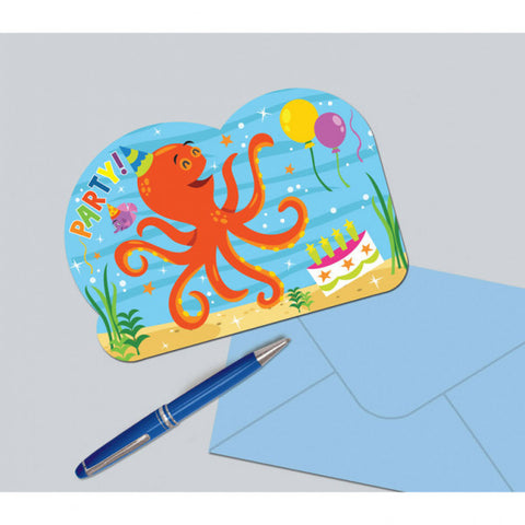 Ocean Buddies Invitation Cards 8pcs