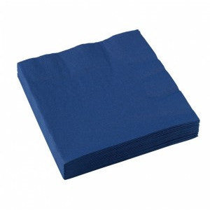 3 Ply Blue Cocktail Napkins. 20pcs