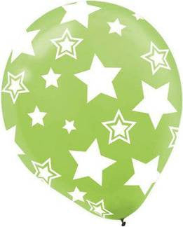 Kiwi Stars Printed Latex Balloon