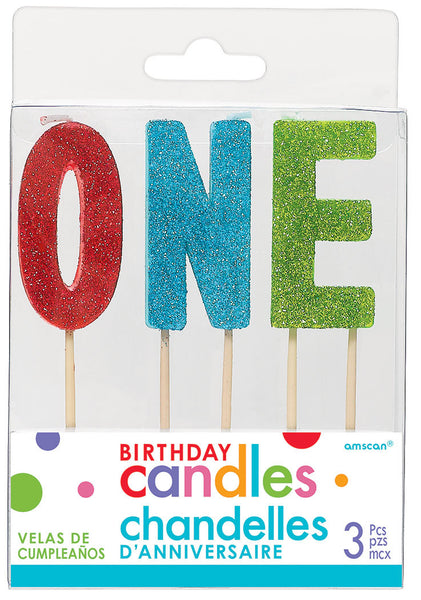 Glitter Number Toothpick Candles