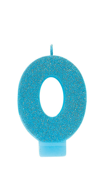 Numeral Glitter Age Candles