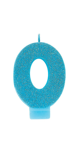 0-9 Glitter Number Candle