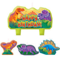 Prehistoric themed Candles 4pcs