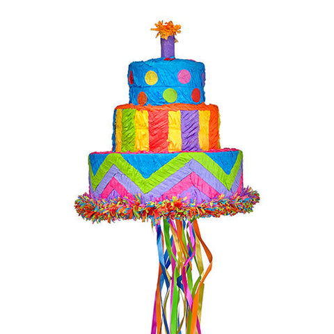 Bright Birthday Cake Pinata