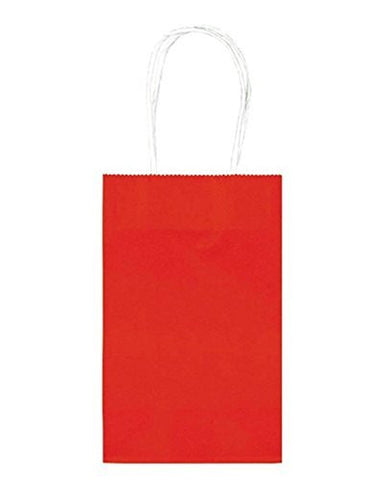 Red Paper Party Bags, 10pcs