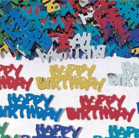 Multi Color Happy Birthday Embossed Foil Confetti