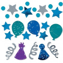 Blue Celebration Foil Confetti Pack