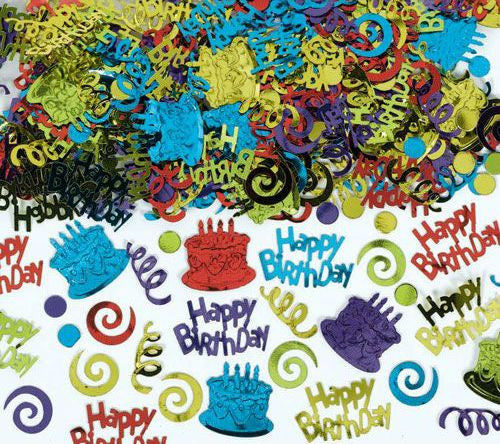 Multi Color Birthday Party Embossed Foil Confetti