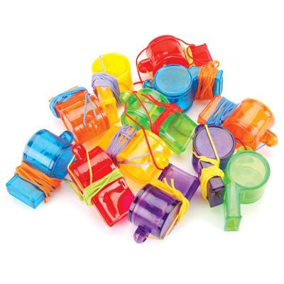 Assorted Color Sports Party Whistles 12pcs