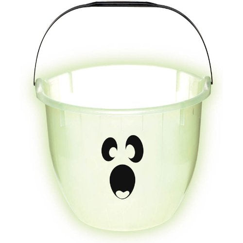 Halloween Glow In The Dark Ghost Plastic Bucket