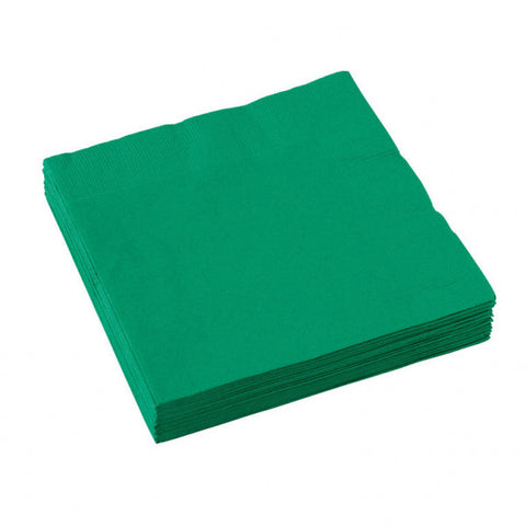 3 Ply Festive Green Beverage Napkins, 20ct