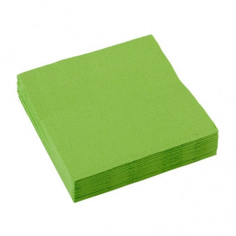 3 Ply Light Green Cocktail Napkins 20pcs