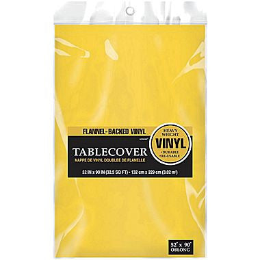 Yellow Flannel-backed Vinyl Tablecover