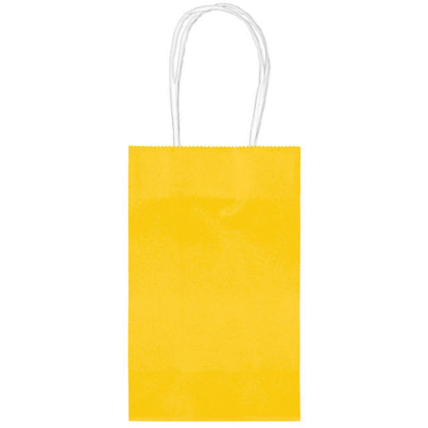 Sunshine Yellow Paper Party Bags, 10pcs